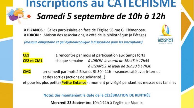 Inscriptions catéchisme 2020-2021