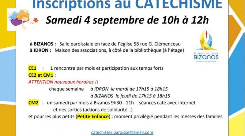 Inscriptions au CATECHISME 2021-22